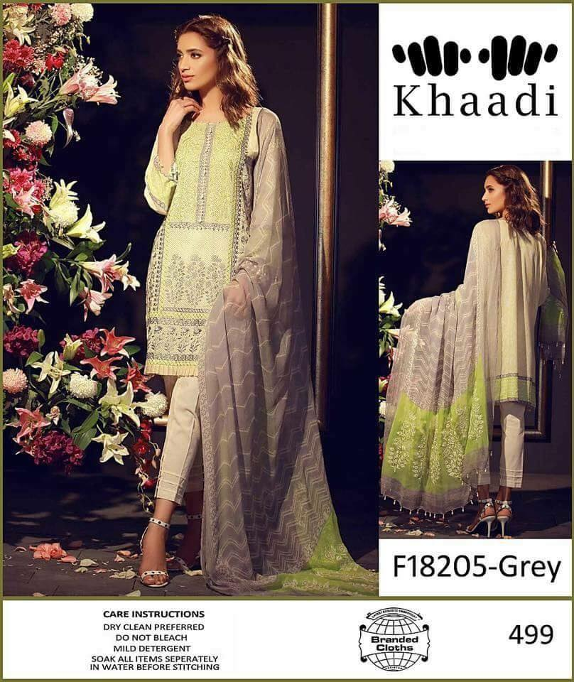 b2dbe89cfc Khaadi Linen Collection with Chiffon Dupatta (Master Replica ...