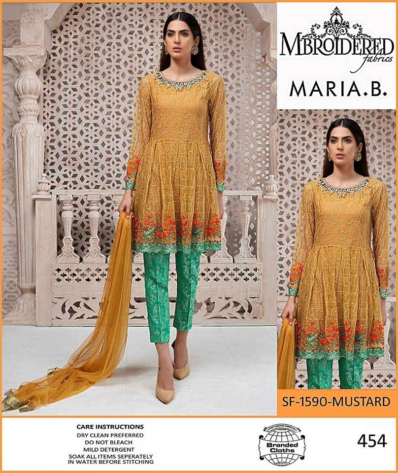 5a2b91f238991 Brand Maria B Linen Collection with Chiffon Dupatta (Master Replica ...