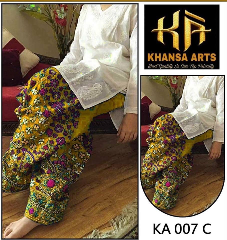 256bf39104 Brand Phulkari Linen Collection with Chiffon Dupatta (Master Replica) -  Rangeen Fashion
