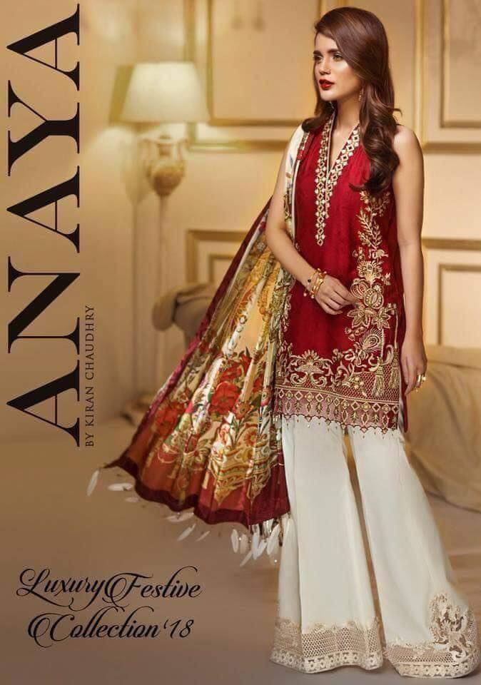 540fb0b7b6 Brand Anaya Linen Collection with Chiffon Dupatta (Master Replica ...