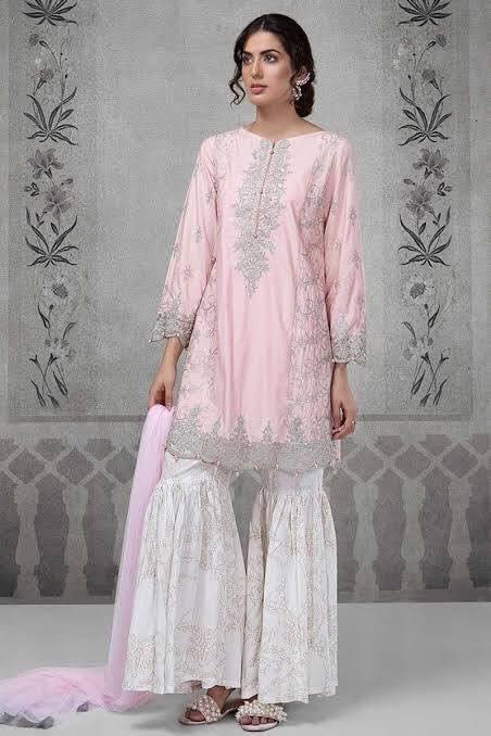 61e39dcebd677 Brand Maria B Embroidered 3PC Lawn Dress with Chiffon Dupatta MB1 ...
