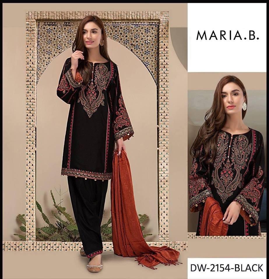 67977f8d6d211 Brand Maria B Embroidered 3PC Lawn Dress with Chiffon Dupatta ...